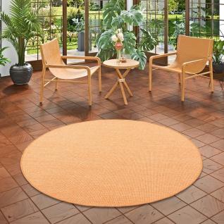 Sisal Natur Teppich Astra Orange Rund