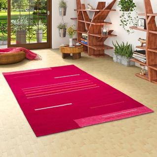 Natur Teppich Kelim Toscana Pink Trend