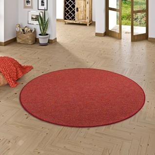 Schlingen Teppich Alma Rot Meliert Rund