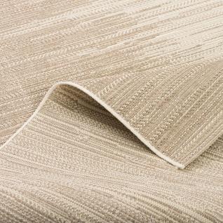 In & Outdoor Teppich Flachgewebe Natur Panama Grau Beige Verlauf - Vorschau 4