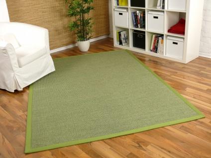 Sisal Astra Natur Teppich Grün Bordüre Grün