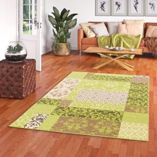 Designer Teppich Passion Grün Patchwork