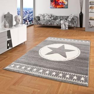 Kinder und Jugend Teppich Savona Army Star Grau