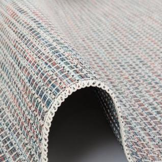 In- und Outdoor Teppich Flachgewebe Carmel Blau Bunt Karo - Vorschau 3