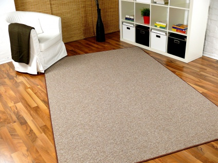 Schlingen Teppich Primo Karamell in 24 Größen