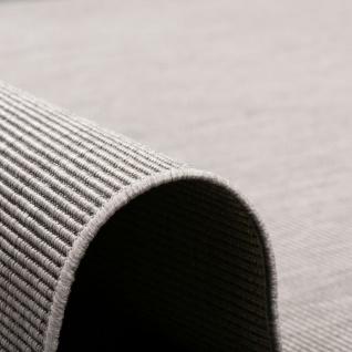 In- und Outdoor Teppich Flachgewebe Carpetto Uni Grau Mix - Vorschau 3