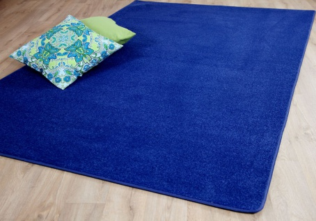 Trend Velours Teppich Joy Blau