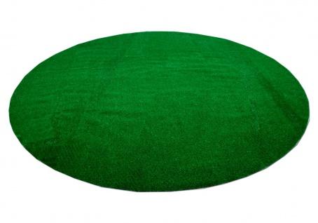 Kunstrasen Rasenteppich mit Noppen York Grün Rund