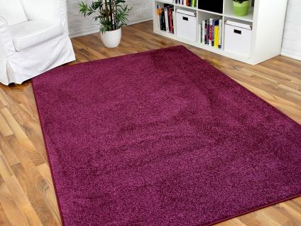 Hochflor Velours Teppich Triumph Lila in 24 Größen
