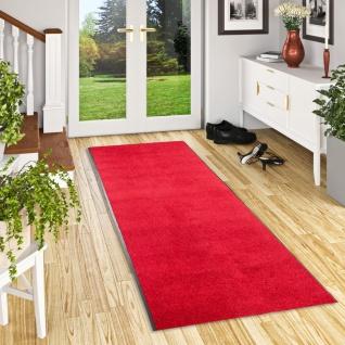 Läufer Proper Tex Uni Rot 90 cm Breite in 20 Größen