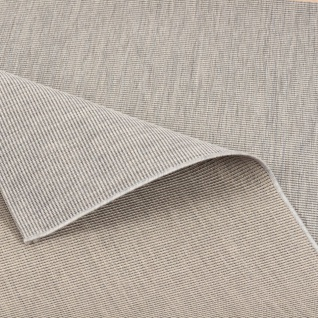 In- und Outdoor Teppich Flachgewebe Carpetto Uni Grau Mix - Vorschau 1