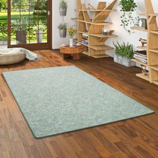 Schlingen Teppich Memory Grün Meliert in 24 Größen