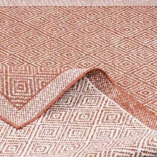 In- und Outdoor Teppich Beidseitig Flachgewebe Hampton Terrakotta Meliert