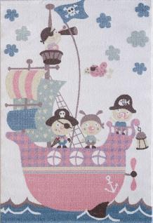 Kinder und Spielteppich Softstar Kids Piratenschiff Pastell Bunt