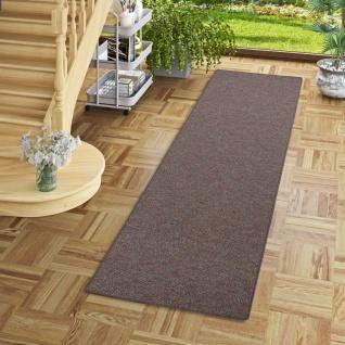 Läufer Teppich Schlingen Teppich Alma Anthrazit Meliert