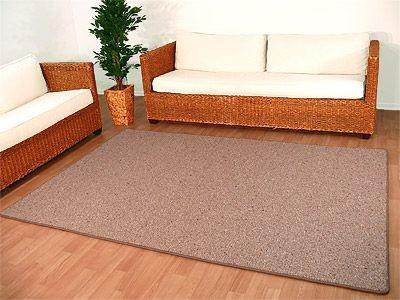 Natur Wolle Teppich Berber Malta Braun in 24 Größen