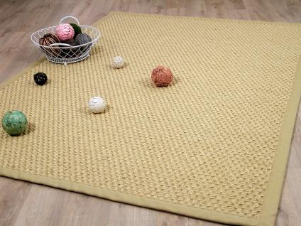 Sisal Natur Teppich Honig Grobe Optik Bordüre Beige