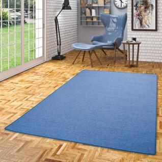 Feinschlingen Velour Teppich Strong Blau