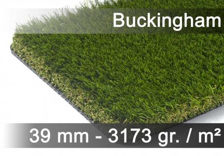 Luxus Kunstrasen Rasenteppich Buckingham Grün