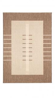 In- und Outdoor Teppich Flachgewebe Carpetto Bordüre Trend Karamell - Vorschau 5