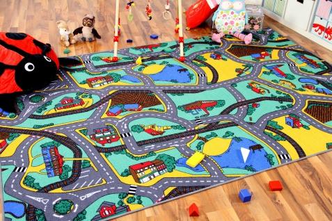 Kinder Spiel Straßenteppich Grün