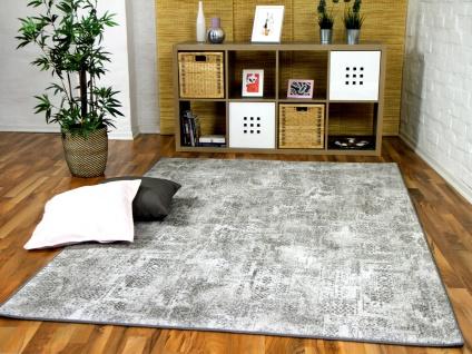 Designer Soft-Velours Teppich Vintage Grau