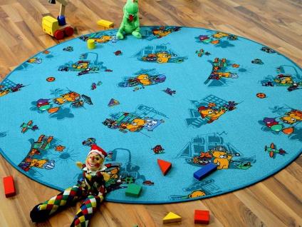 Kinder Spielteppich Bärenwelt Türkis Rund in 7 Größen