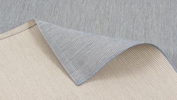 In- und Outdoor Teppich Flachgewebe Carpetto Uni Blau Mix
