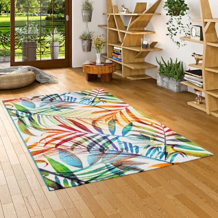 Designer Teppich Faro Tropical Bunte Zweige