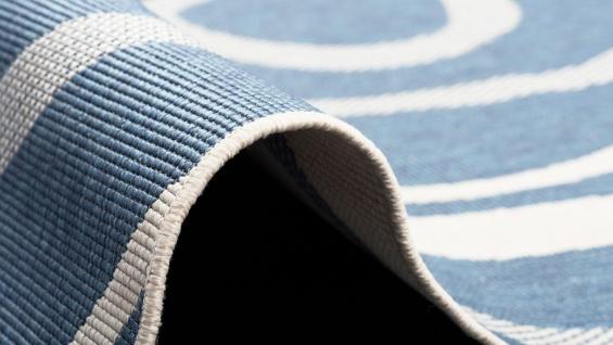 In- und Outdoor Teppich Beidseitig Flachgewebe Newport Blau Kreise - Vorschau 4