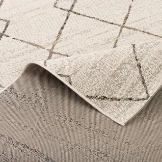 In- und Outdoor Teppich Flachgewebe Carpetto Beige Rauten - Vorschau 4