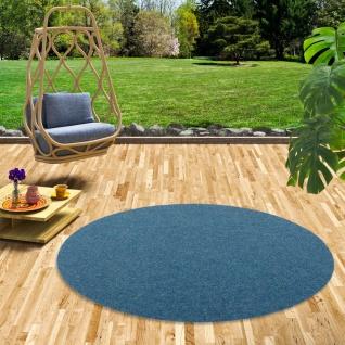 Kunstrasen Rasenteppich mit Noppen Kingston Blau Rund