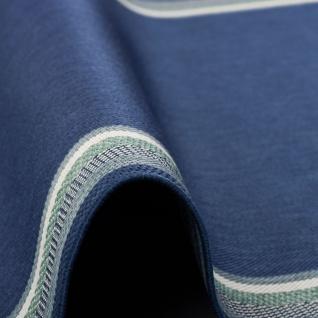 In- und Outdoor Teppich Flachgewebe Carpetto Bordüre Blau - Vorschau 4
