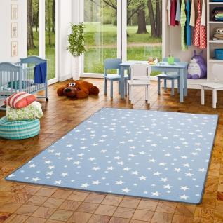 Kinder Spiel Teppich Sterne Blau