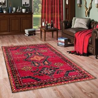 Designer Teppich Vintage Zoe Orient Rot Bordüre
