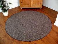 Teppich Bentzon Flachgewebe Grau Blau Rund in 7 Größen