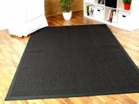 Sisal Astra Natur Teppich Schwarz Bordüre Schwarz in 12 Größen