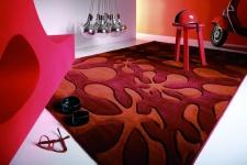 Lars Contzen Designerteppich Le Pop Rot Terrakotta
