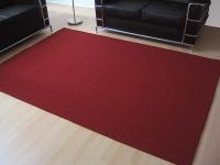 Sisal Natur Teppich Astra Rot in 24 Größen
