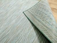 In- und Outdoor Teppich Beidseitig Flachgewebe Hampton Mintgrün Meliert