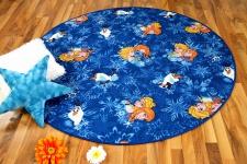 Kinder Spiel Teppich Walt Disney Frozen Blau Rund