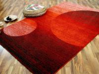Designer Teppich Softstar Rot Orange Kreise