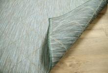 In- und Outdoor Teppich Beidseitig Flachgewebe Hampton Karo Mintgrün