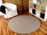 Teppich Bentzon Flachgewebe Karamell Rund in 7 Größen