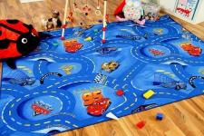 Spiel Kinderteppich Disney Cars Blau in 24 Größen