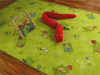 Kinder Spielteppich Grün Girls