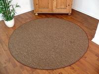 Teppich Bentzon Flachgewebe Braun Rund in 7 Größen