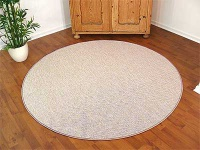 Teppich Bentzon Flachgewebe Sand Rund in 7 Größen