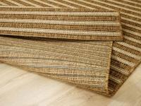 In & Outdoor Teppich Flachgewebe Natur Panama Nuss Streifen - ABVERKAUF