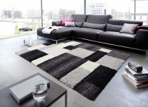 Astra Luxus Teppich Livorno Schwarz Grau Trend